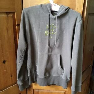 Life Is Good Brown Womens Hoodie Pullover Sweater